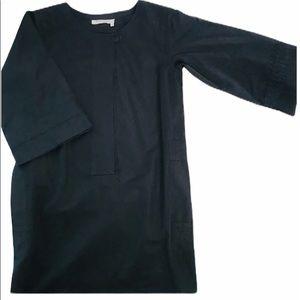 Yves Saint Laurent Black Shift Dress S/4/36
